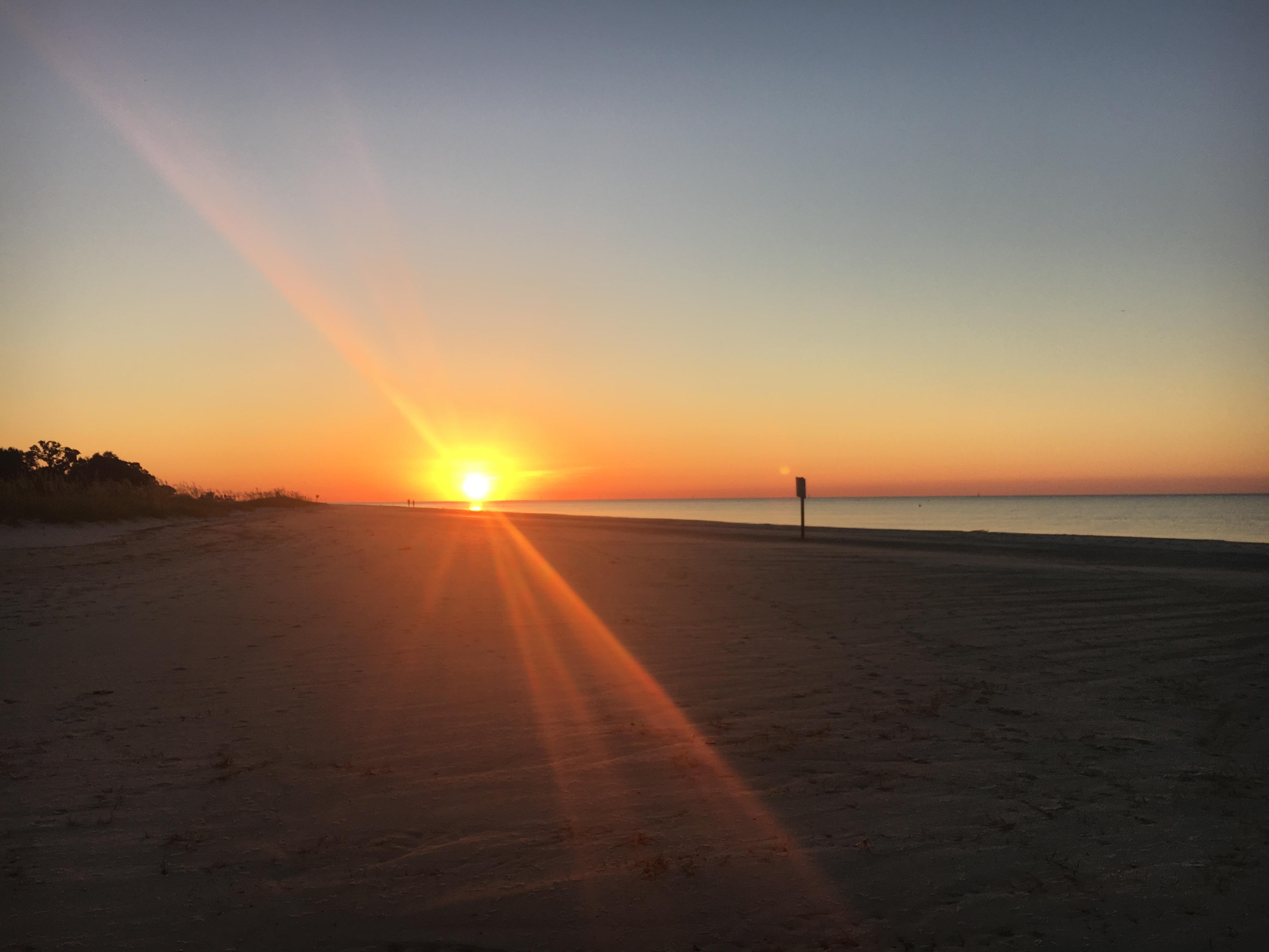Sunrise on the Gulf Coast